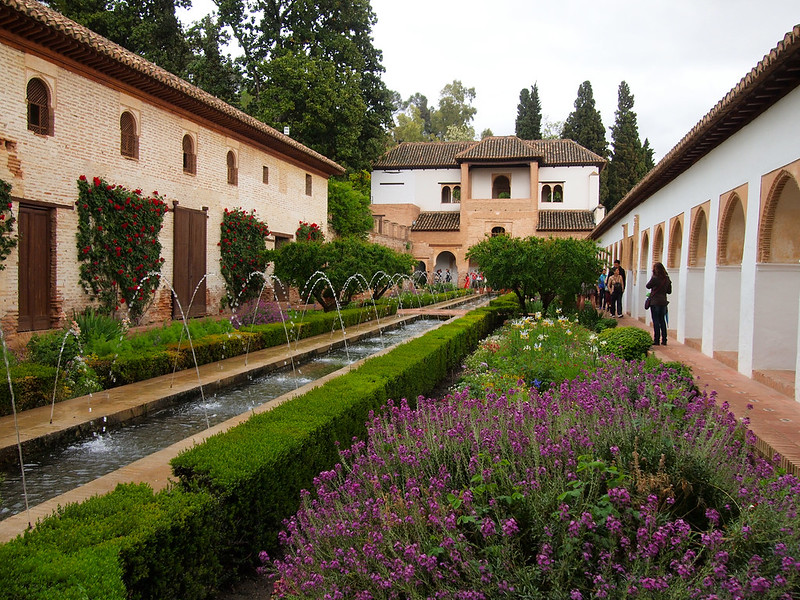 Patio of the Cypresses at Generalife Gardens