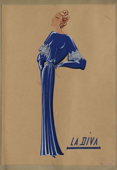 La Diva (dessin), 1935-36 © Patrimoine Lanvin