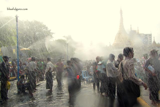 Thingyan Water Festival Yangon Myanmar