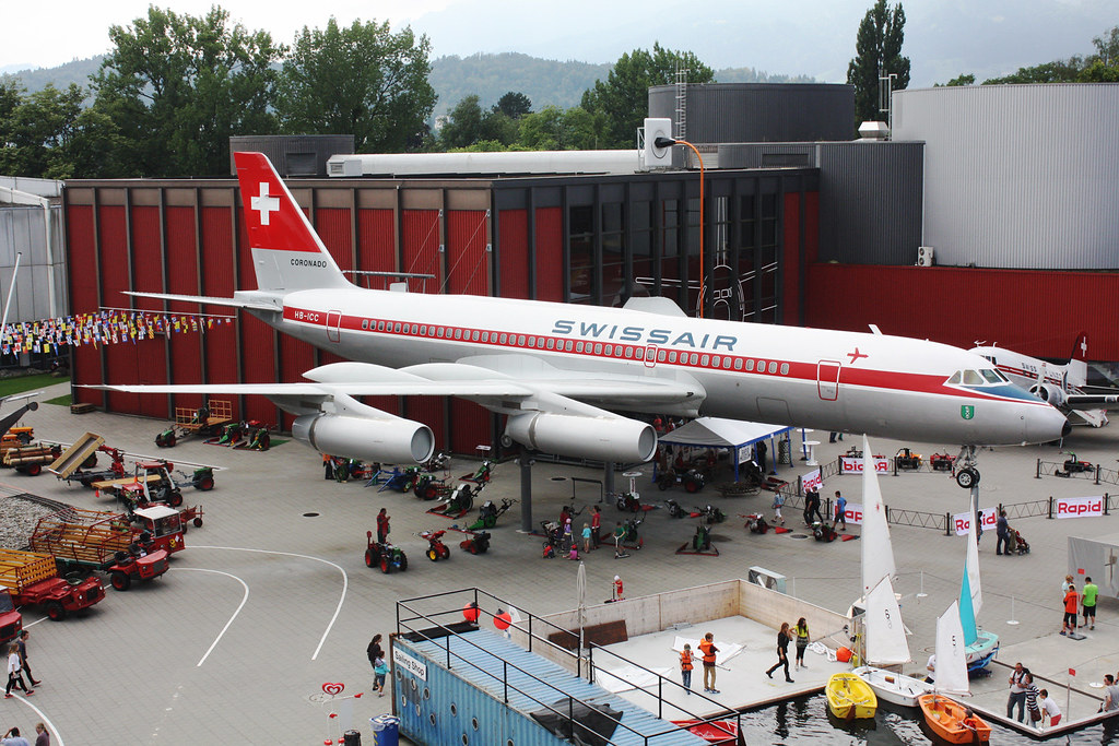 "Convair 990A Coronado Swissair HB-ICC ""St Gallen"". Transport Museum, Luzern, July 31. 2014."