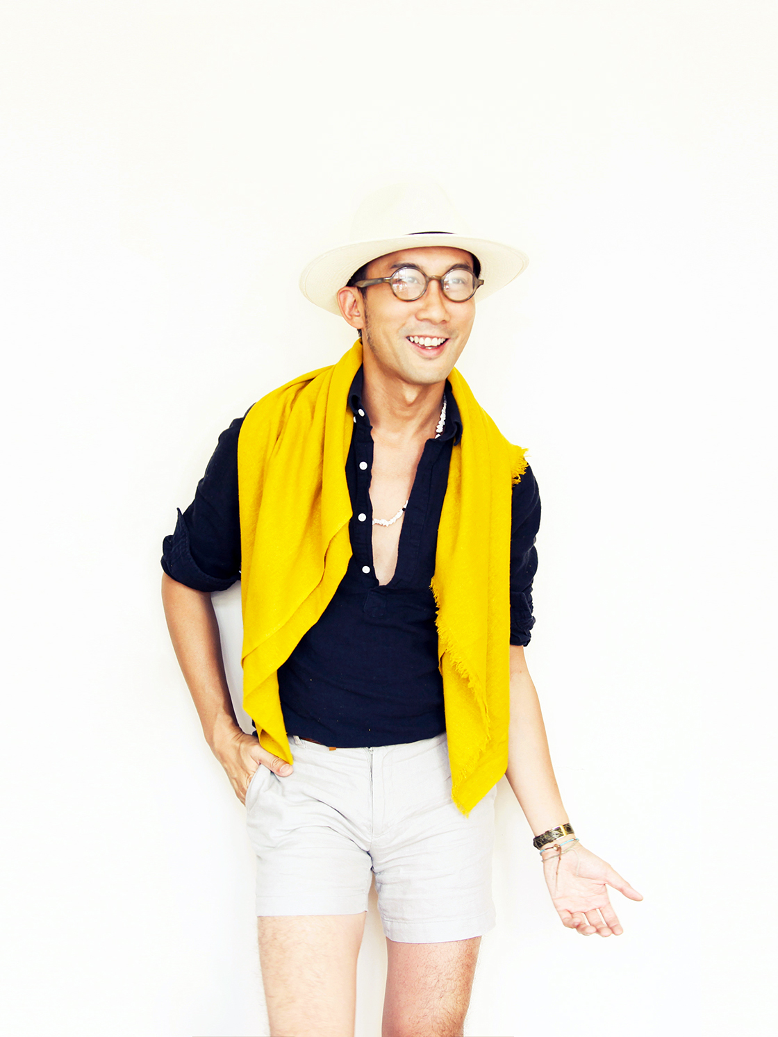 summer get up yellow scarf 1