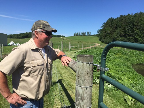 Sam Dixon, the dairy farm manager at Shelburne Farms