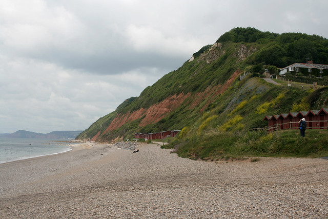 The beach at Branscombe Mouth
