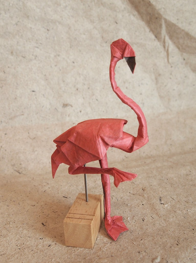 Origami Flamingo By Lonely Shiba December 2016 Origami Pinterest