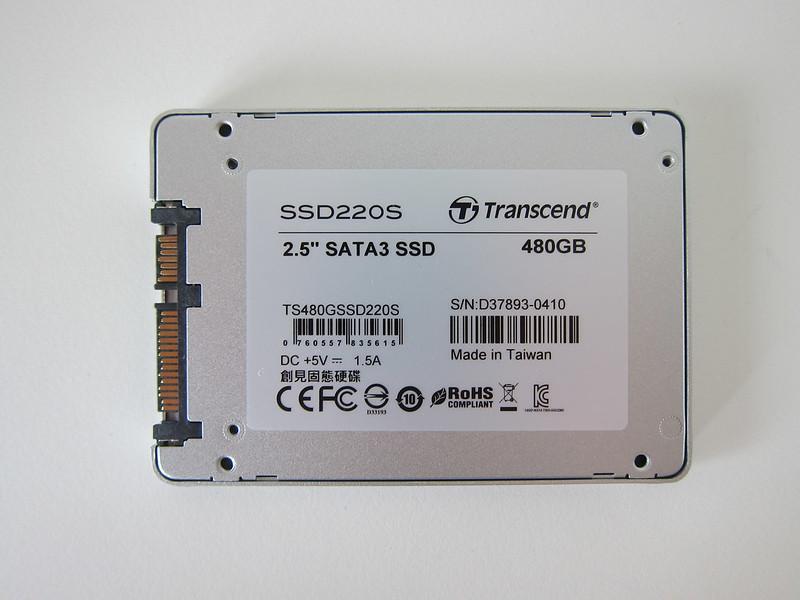 Transcend TLC 480GB SSD - Back
