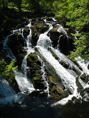 Swallow Falls in Wales, standard exposure