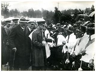 Prince of Wales at Ohinemutu, Royal Tour 1920