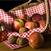 Apples and walnuts by Linton Snapper