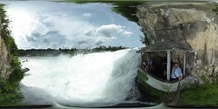 Rhine Falls from the fishing net in 360 °