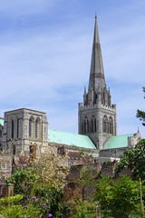 Chichester Cathedral from Bishops garden