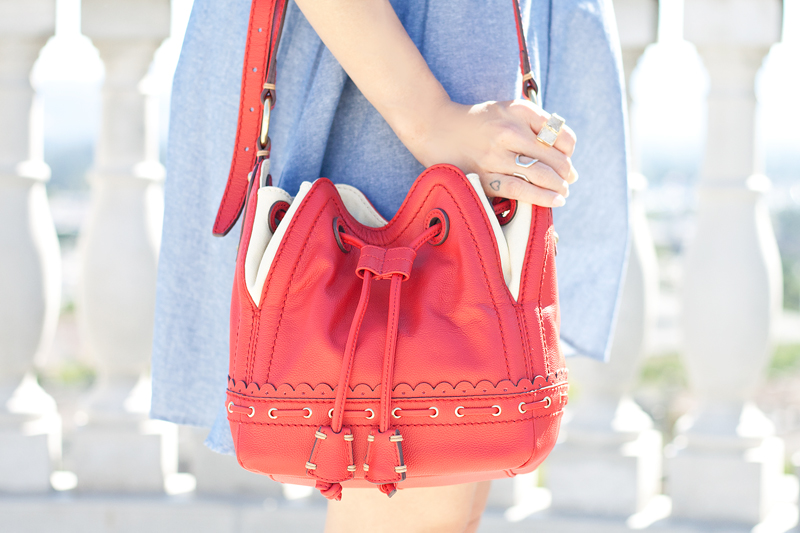 03-chambray-romper-red-bucket-bag-sf-sanfrancisco-fashion-style