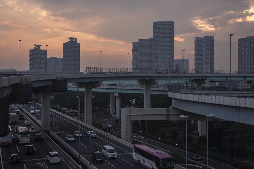 2015.08.01 夕暮 - 首都高速道路