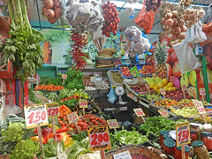 Green Market in Naples, Italy