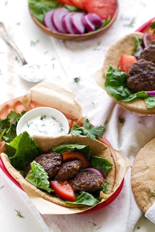 20 Minute Greek Gyros with Tzatziki Sauce - A GREEK classic turned into a QUICK + EASY Weeknight dinner! #gyros #greekgryos #chickengryos   Littlespicejar.com