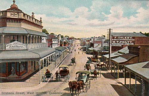 Brisbane Street, West Ipswich, Australia - circa 1910