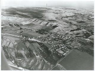 Aerial view of Seddon, Marlborough (1968)