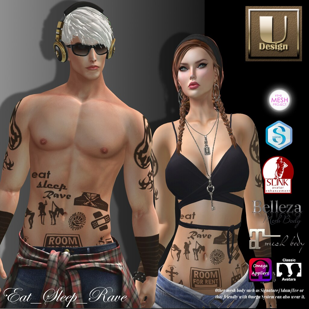 U-Design : Eat Sleep Rave ( GIFT ) - SecondLifeHub.com