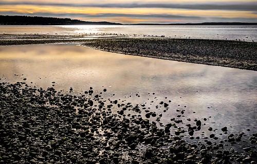 landscape picnicpoint pugetsound afternoon reflection clouds