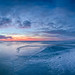 Blue ice Sunset by M.T.L Photography