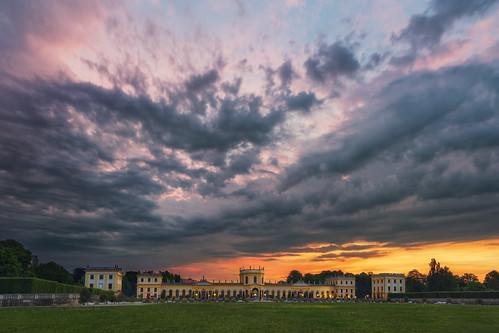 storm sunrise germany deutschland sony meadow dramatic wolken thunderstorm sonnenaufgang gewitter kassel orangerie nordhessen karlswiese sonya7r