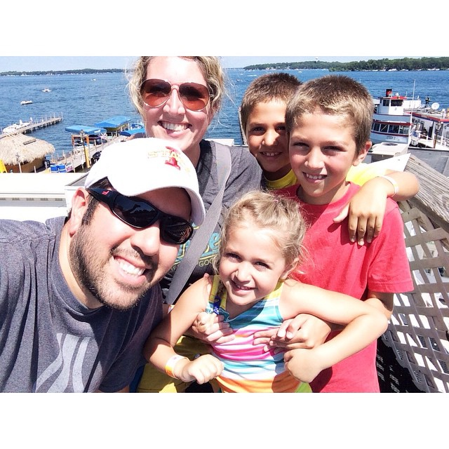 One from yesterday! The kids are exhausted and we are unpacking the car! #summer2015 #arnoldspark #partyof5 #latergram