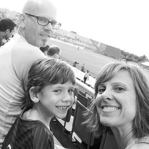 Family night out at the Strikers game