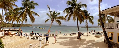 beach strand swim hotel nager sand schwimmen sable palm caribbean windjammer plage stlucia westindies