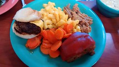 Buffet Plate At Golden Corral.