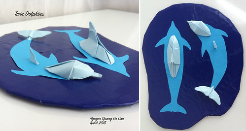 Origami Twin Dolphins