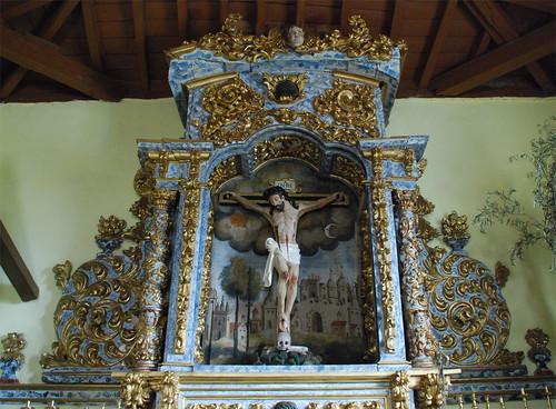 Retablo e Imagen de la Ermita del Santo Cristo de los Afligidos (Serradilla del Arroyo) [Salamanca]