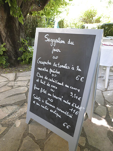 menu auberge