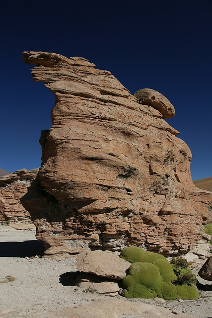 Deserted Rock-Wall City.  Uyuni Salt Flats, Bolivia.
