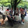 Troop 204 scouts in Hiroshima Peace Memorial Park. #Hiroshima #Peace #ScoutsUSA #wsj2015 #troop204wsj