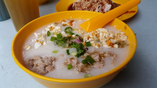 Minced pork porridge