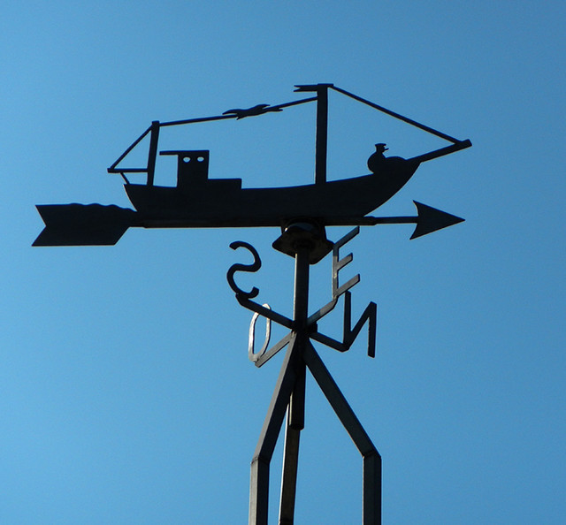 Weather vane at Petit Fort Philippe on the north coast of France