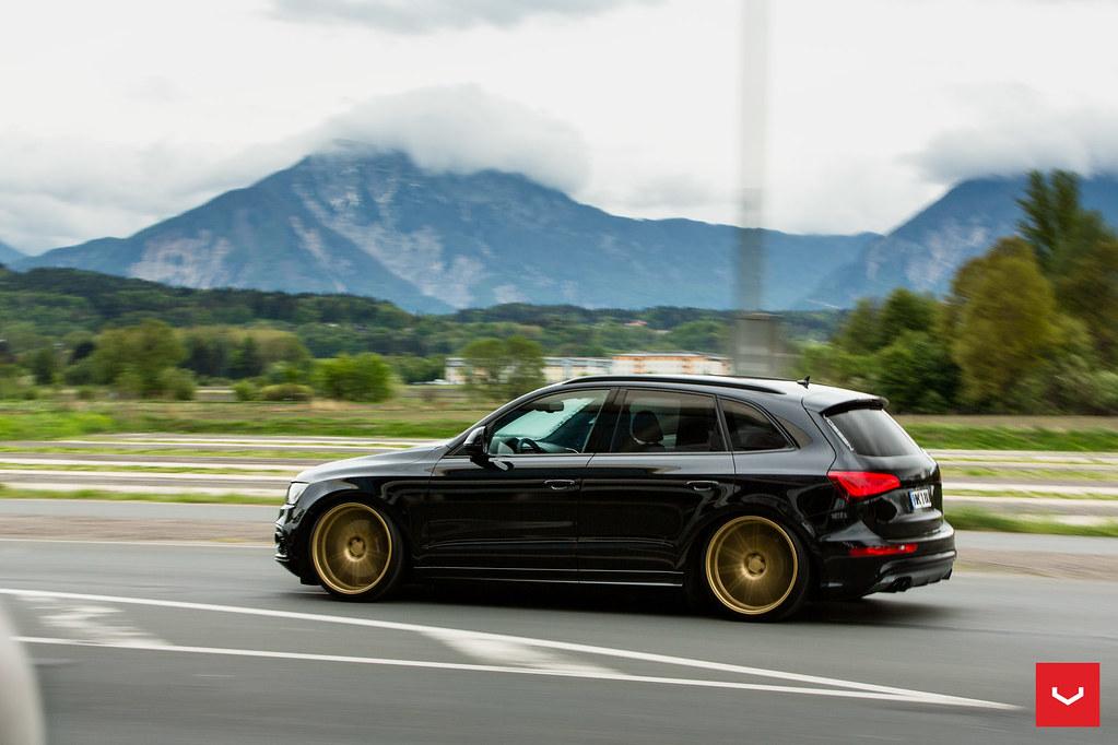 Audi Sq5 Custom 22 Quot Vossen Cv4 Black On Gold