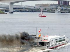 Ship fire(exercises) 東京消防庁 船舶消防演習 東京都公園協会 東京水辺ライン さくら
