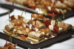 hors d'oeuvre, meal, breakfast, meat, buffet, food, dish, pincho, cuisine,