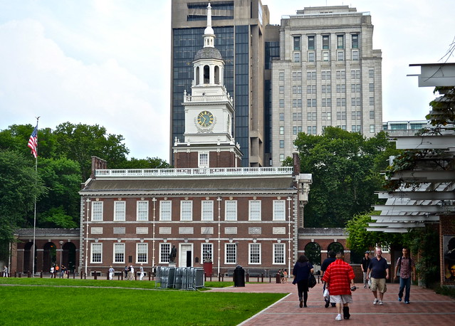 independence hall, historic district philadelphia