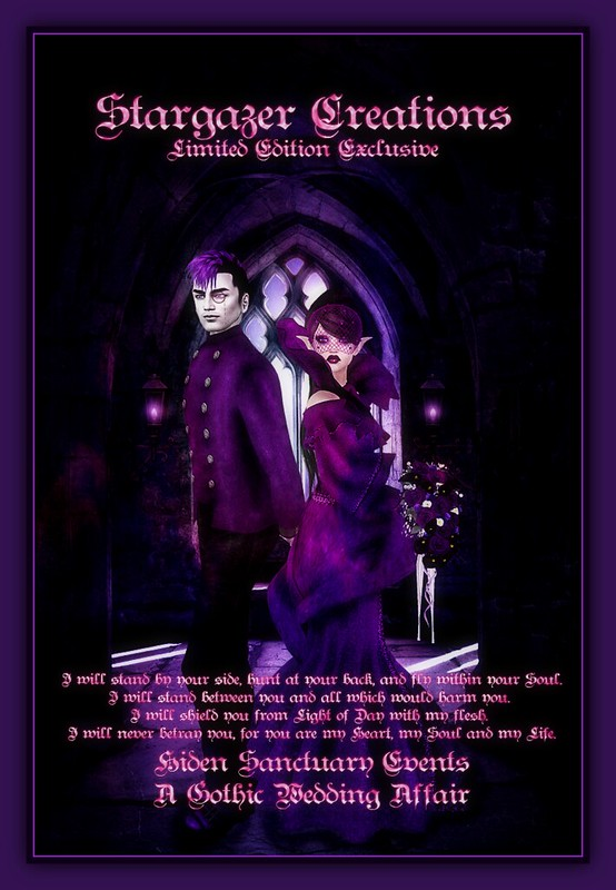 Stargazer Gothic Wedding Affair Poster