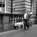 A Dog and Its Person, Edinburgh, Scotland