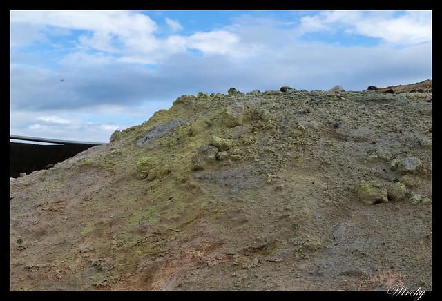 Azufre en Volcán Krafla