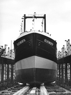 Launch of the bulk carrier 'Silksworth'