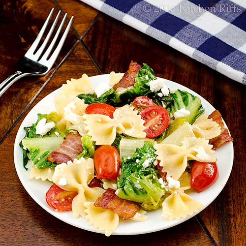 BLT Pasta with Goat Cheese