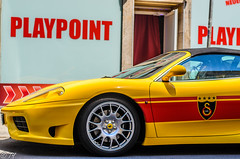 ferrari f355(0.0), race car(1.0), automobile(1.0), vehicle(1.0), performance car(1.0), automotive design(1.0), ferrari f430 challenge(1.0), ferrari 360(1.0), ferrari s.p.a.(1.0), land vehicle(1.0), luxury vehicle(1.0), supercar(1.0), sports car(1.0),