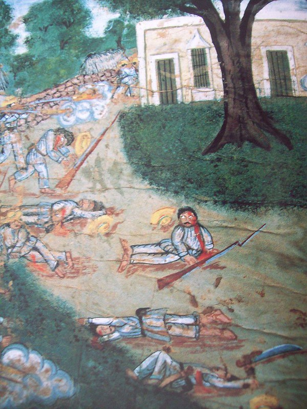 Oil painting of the Caste War