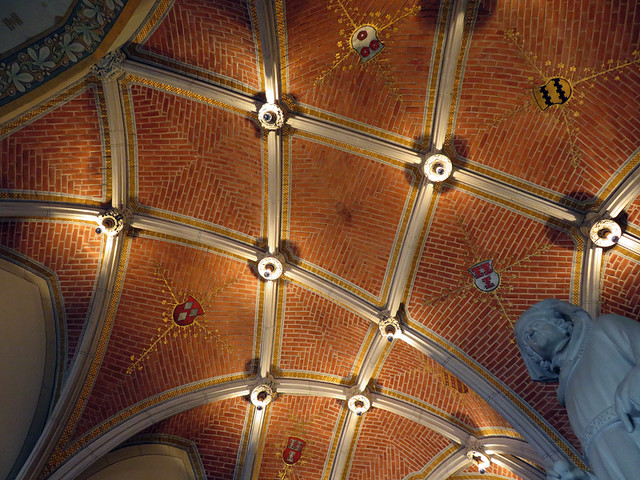 Elaborate Ceiling at Kasteel de Haar near Utrecht, Holland