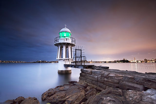 Cremorne Point Lighthouse By Night