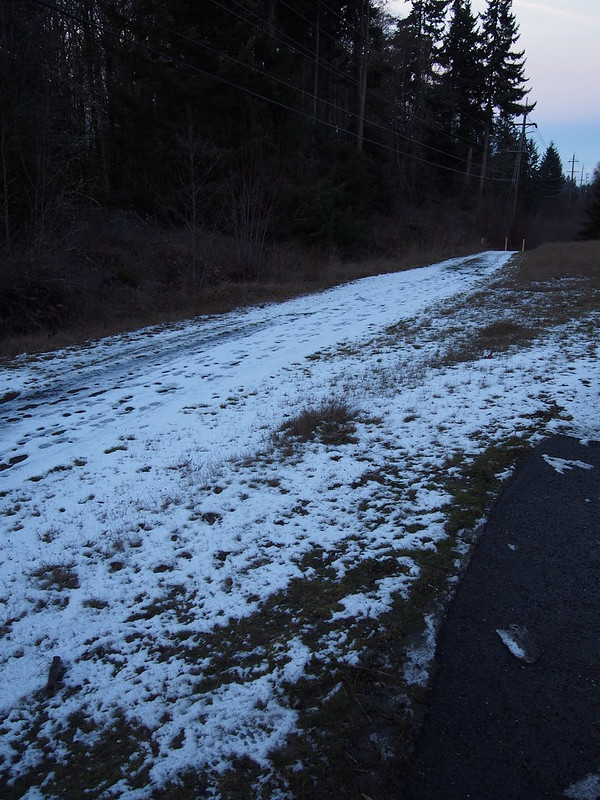 Olympic Discovery Trail: Snow: It gets worse further away from the highway.