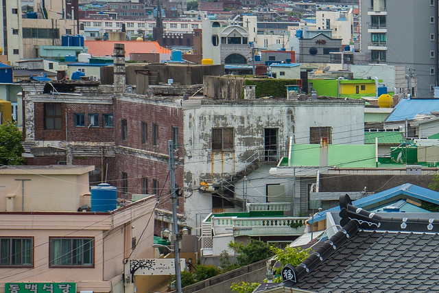 Distant view of Namdo Inn, Yeosu, South Korea